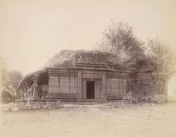 General view from the north-east of a ''small but very old temple, elaborately ornamented'', Degaon
